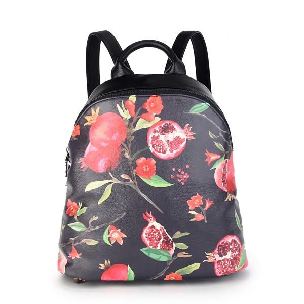 3f0e471691b6 Купить женский рюкзак из экокожи с яркими принтами и одним ...